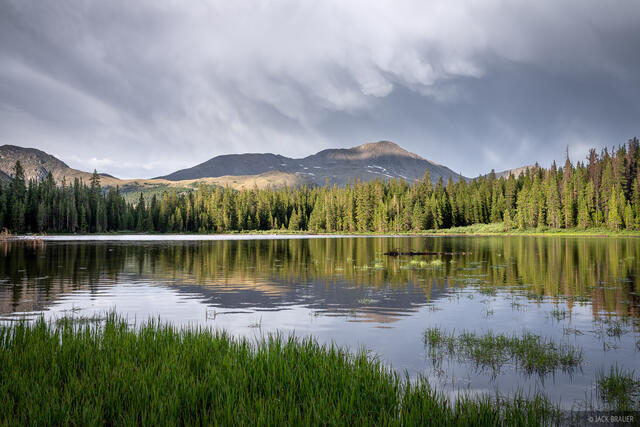 Collegiate Peaks Wilderness, Colorado, Hartenstein Lake, Mount Yale, Sawatch Range, 14er