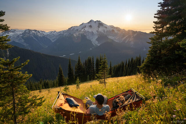 Glacier Peak, Glacier Peak Wilderness, Washington, hammock, Cascades