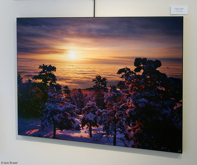 Boulder Inversion Sunrise, print