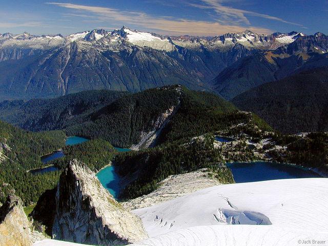 Snowking Mtn., lakes, Eldorado Peak, North Cascades, Washington