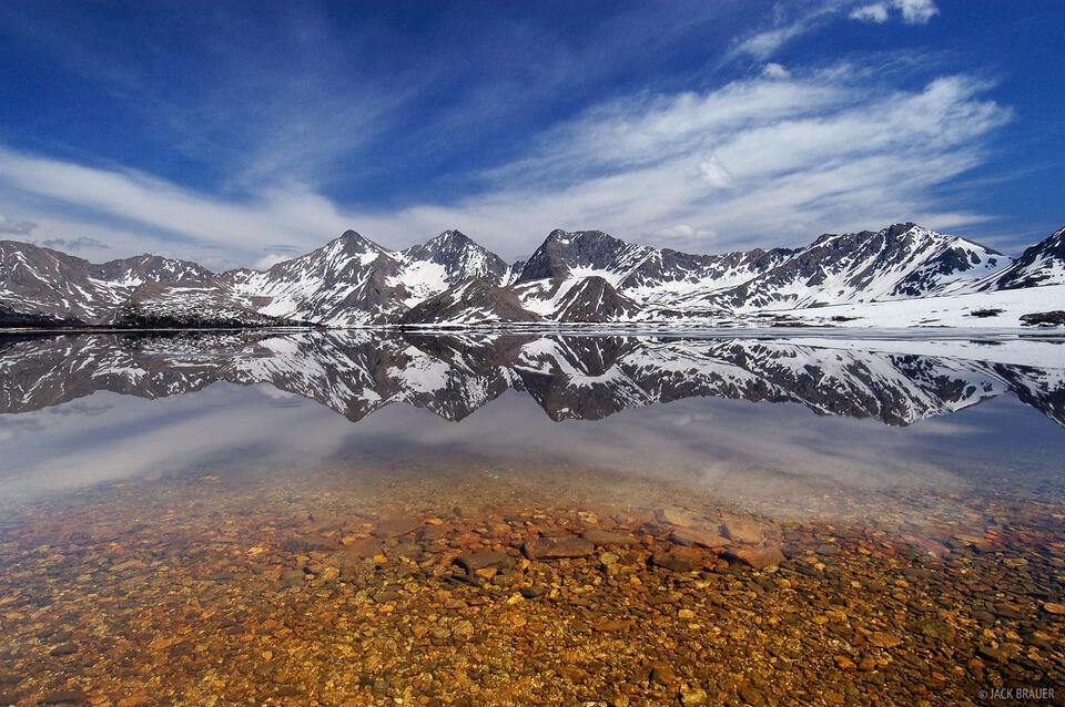 Three Apostles, reflection, Collegiate Peaks Wilderness, Sawatch Range, Colorado