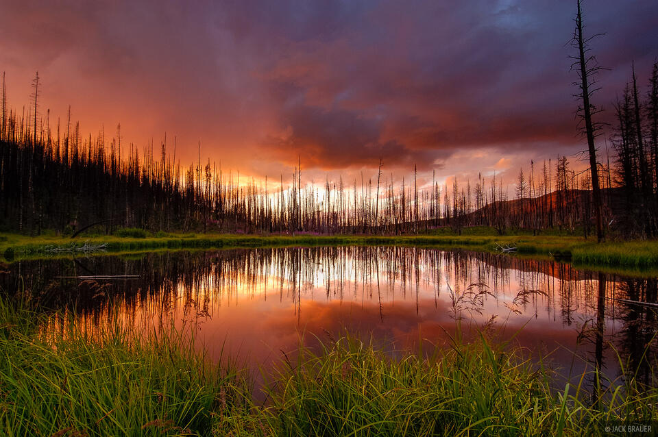 Trappers Lake, reflection, Flattops, Colorado