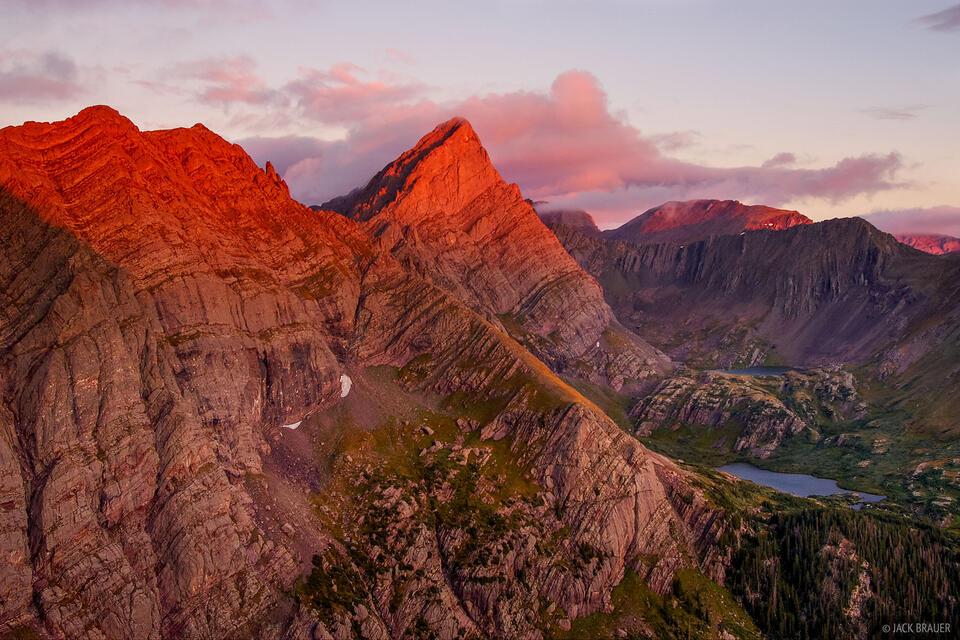 Crestone Needle, fourteener, alpenglow, Colorado, Sangre de Cristo Wilderness