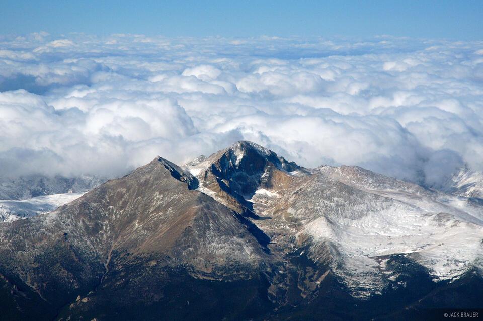 Longs Peak, aerial, Rocky Mountain National Park, Colorado