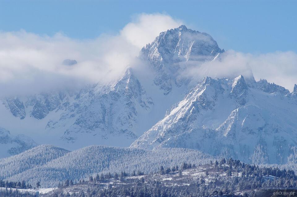 Mt. Sneffels, winter, snow, San Juan Mountains, Colorado