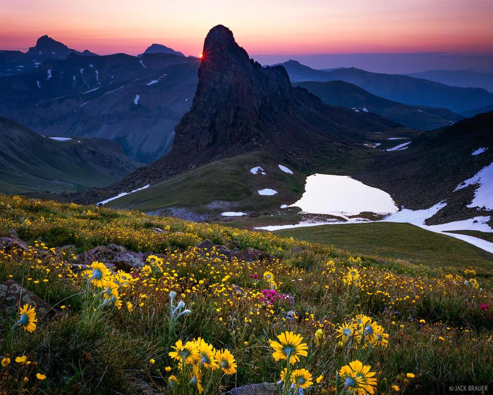 San Juan Sunrise, Uncompahgre Wilderness, San Juan Mountains, Colorado