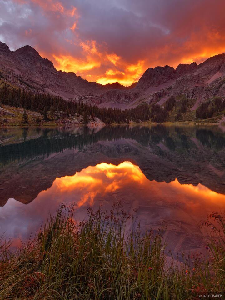 Weminuche Wilderness, Grenadier Range, San Juan Mountains, Colorado, sunrise