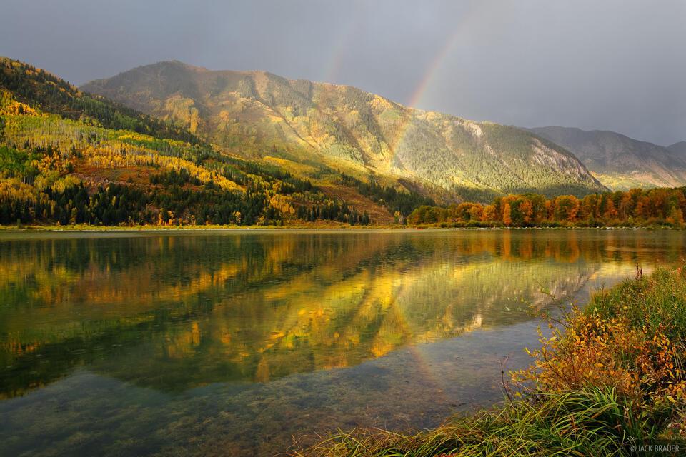 Beaver Lake, Marble, Colorado, rainbow