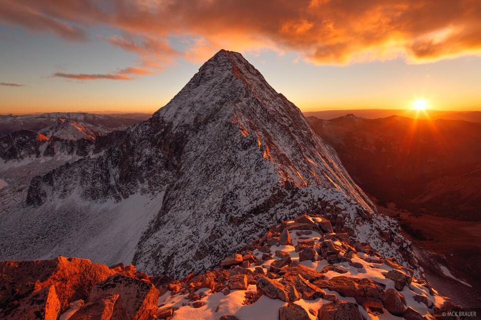 Capitol Peak, sunset, Elk Mountains, Colorado, K2, Maroon Bells-Snowmass Wilderness