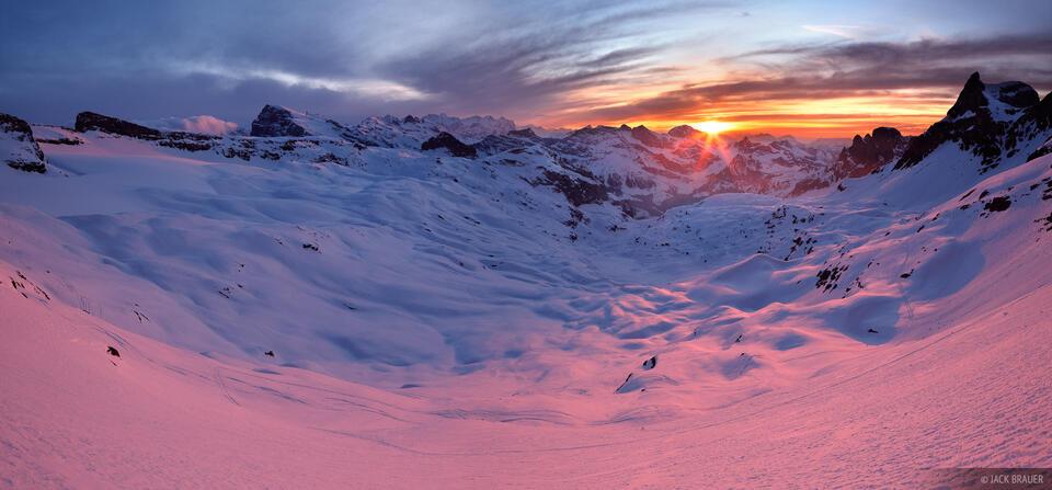 Griessental, sunset, Switzerland, alpenglow, panorama, Urner