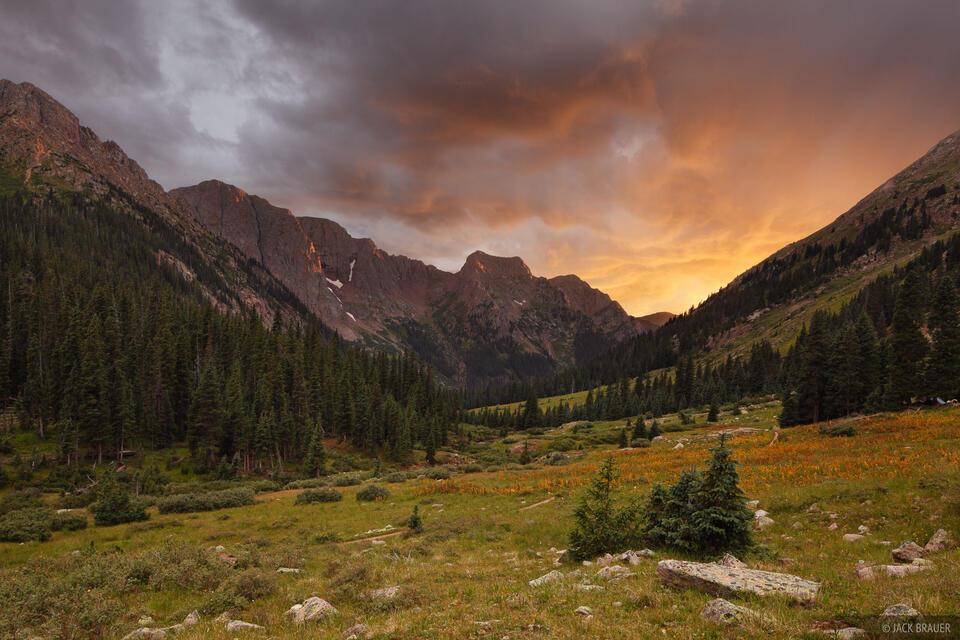 Chicago Basin, San Juan Mountains, Colorado, sunset