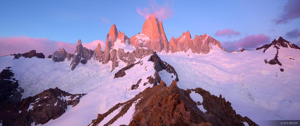 Fitz Roy, El Chalten, Argentina, Patagonia, sunrise, panorama, Parque Nacional Los Glaciares