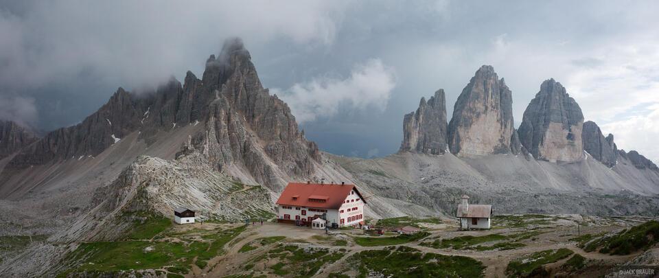 Dolomites, Italy, Monte Paterno, Locatelli Hut, Tre Cime