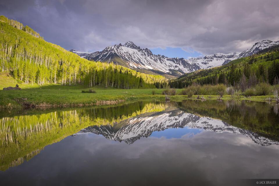 Colorado,Mt. Sneffels,San Juan Mountains,Sneffels Range, aspens, June, green