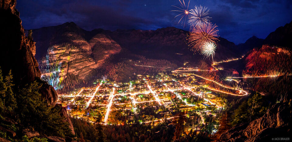 4th of July,Colorado,Ouray,San Juan Mountains,fireworks