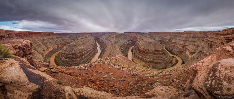 Goosenecks State Park, Utah, panorama
