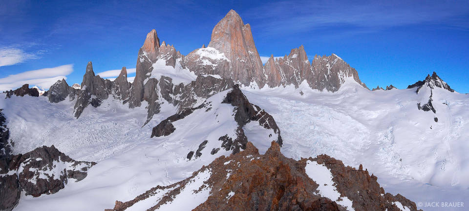 Monte Fitz Roy, panorama, Parque Nacional los Glaciares, Argentina, Patagonia