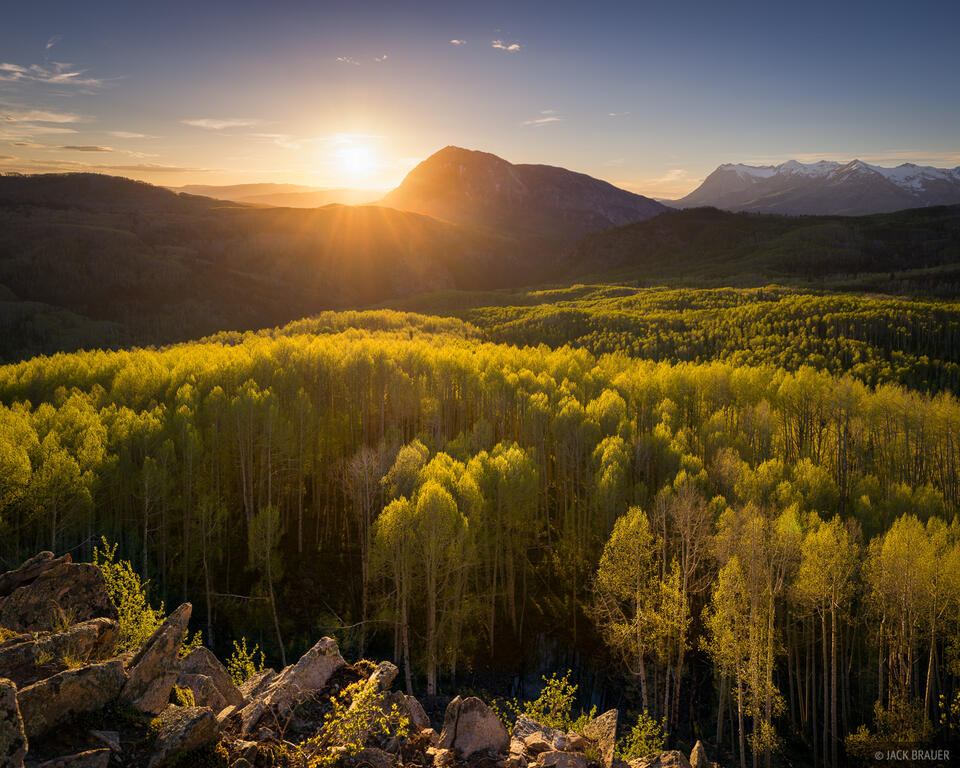 Colorado, Elk Mountains, Kebler Pass, aspens, Marcellina Mountain, Raggeds Wilderness
