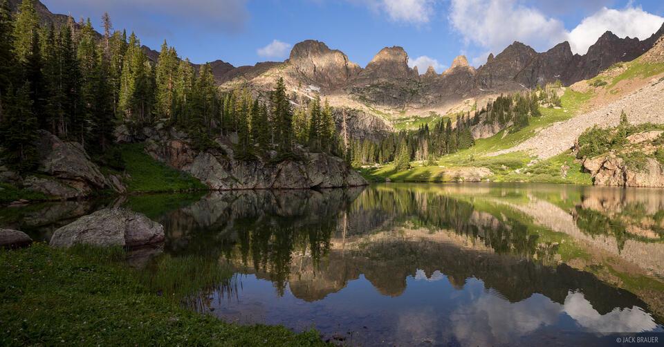 Colorado, Gore Range, Willow Lakes, Eagles Nest Wilderness, Zodiac Ridge, reflection