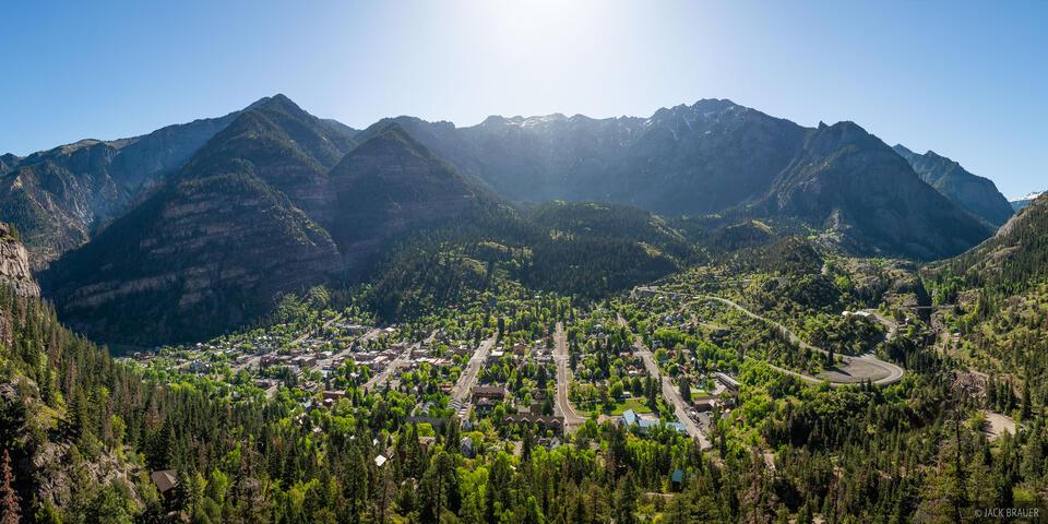 Colorado, San Juan Mountains, Sneffels Range, Ouray, panorama