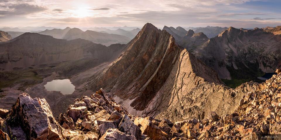 Colorado, Grenadier Range, San Juan Mountains, Trinity Peaks, Weminuche Wilderness, panorama