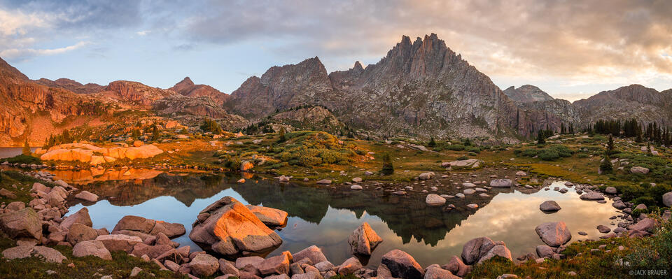 Colorado, Jagged Mountain, Needle Mountains, San Juan Mountains, Weminuche Wilderness, panorama, sunrise