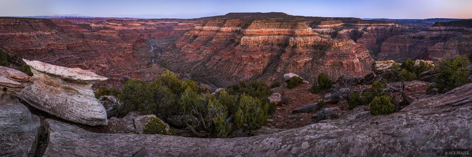Colorado, Dolores River,  Dolores River Canyon Wilderness Study Area, Bedrock, panorama