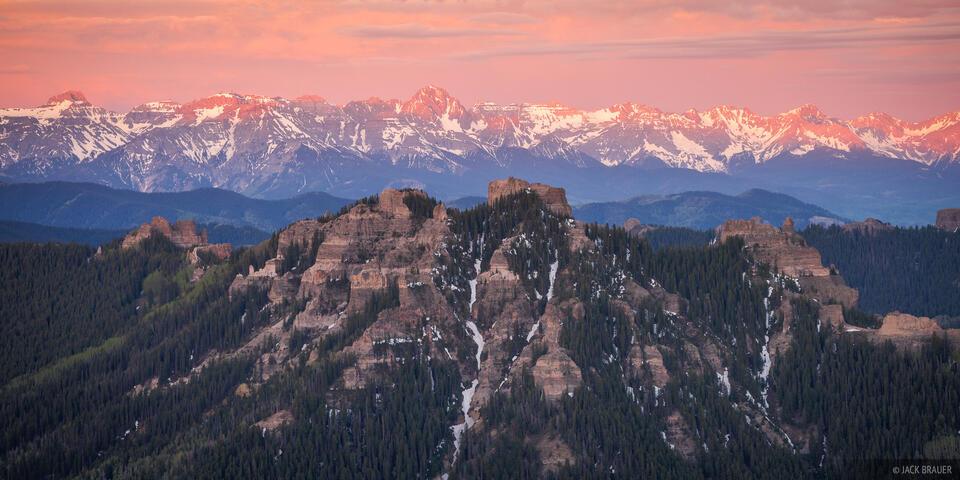 Cimarrons, Colorado, Mt. Sneffels, San Juan Mountains, Sneffels Range, sunrise