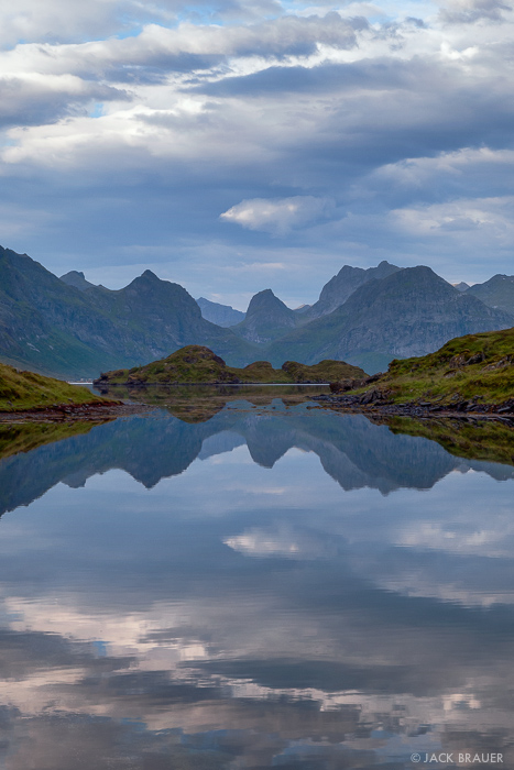 Moskenesøya, Lofoten, Norway, reflection
