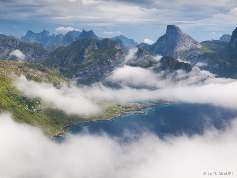 Kjerkfjorden, Vindstad, Moskenesøya, Lofoten, Norway