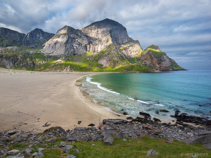 Bunes, Lofoten Islands, Norway, Moskenesøya, beach