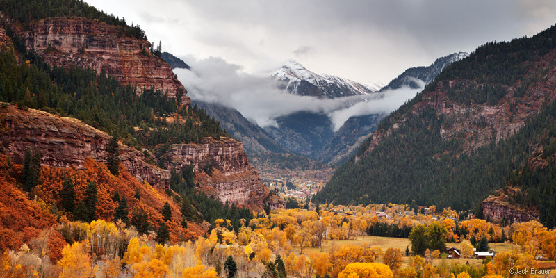 Mt. Abrams, Ouray, Colorado, panorama, autumn