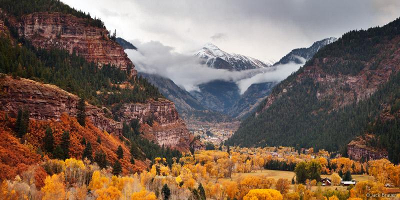 Mt. Abrams, Ouray, Colorado, panorama, autumn