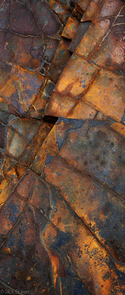 Colorful rock abstract.