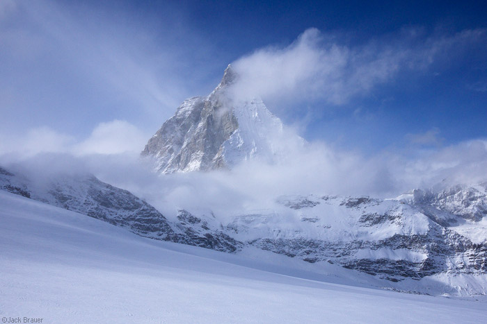Matterhorn, Zermatt, Switzerland, clouds, photo