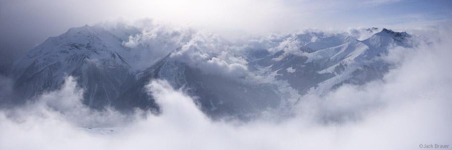 Mayrhofen, Austria, panorama, clouds