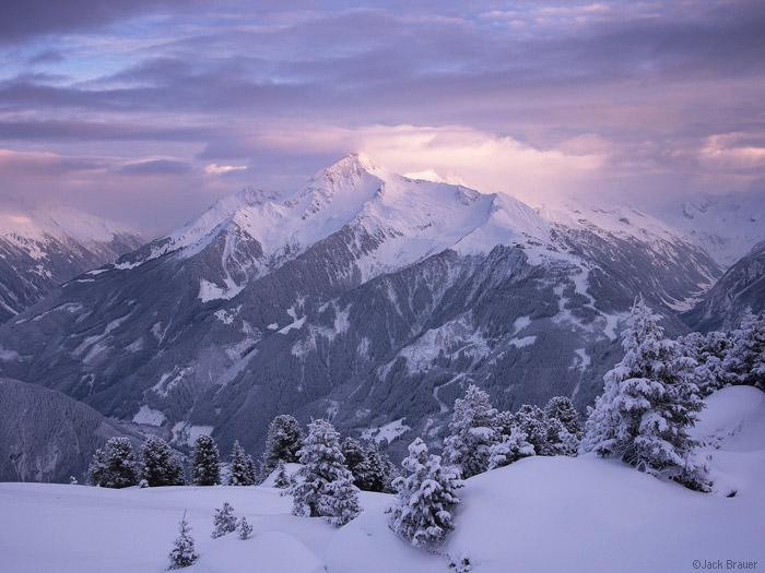 Ahornspitze, Mayrhofen, Austria, sunset