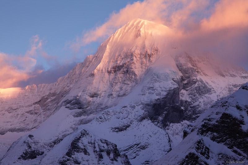 Mönch, Mürren, Jungfrau, Switzerland, sunset