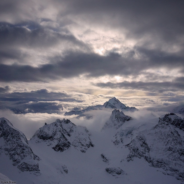 Engelberg, Titlis, Switzerland, clouds, january, Fleckistock, photo