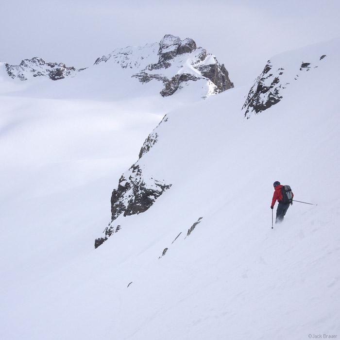 Brunnistock, Blüemlisalpfirn, Switzerland, skiing