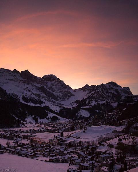 Engelberg, sunset, Switzerland