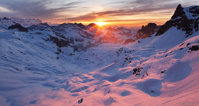 Griessental Sunset 2 Urner Alps Switzerland Mountain