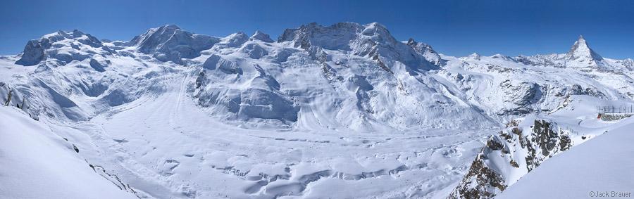 Gornergrat, Gornergletscher, glacier, panorama, Zermatt, Switzerland