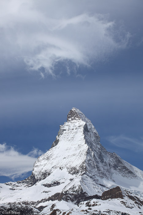 Matterhorn, cloud, Zermatt, Switzerland