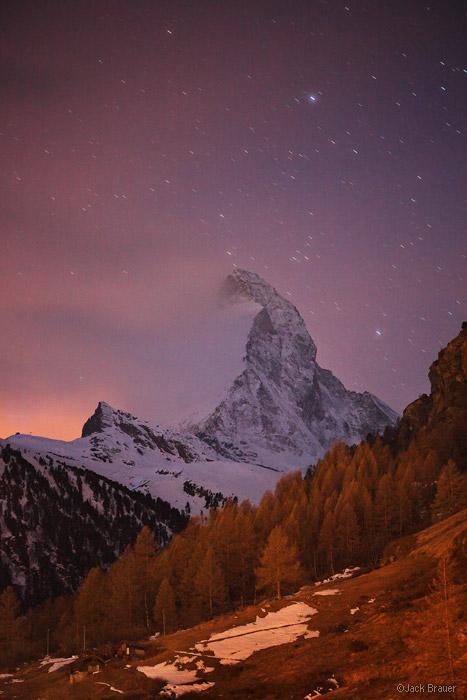 Matterhorn, Zermatt, Switzerland, stars