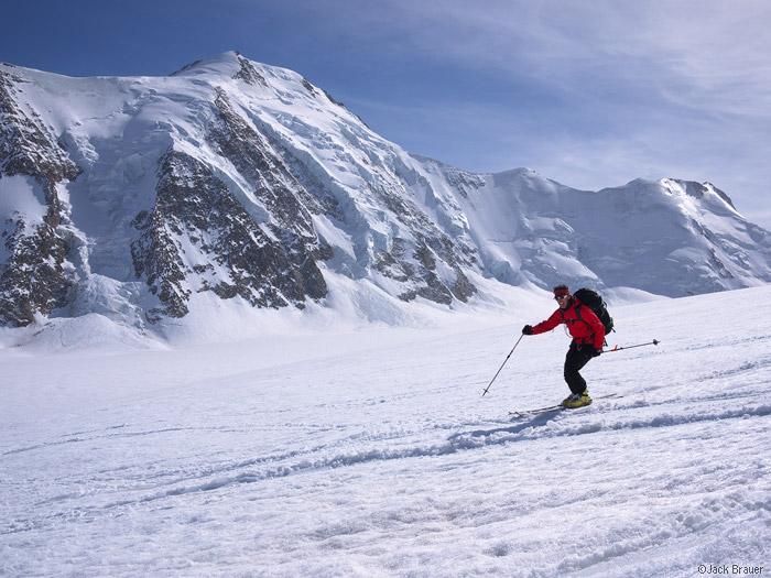 Aletschfirn, Aletschhorn, skiing, glacier, Bernese Oberland, Switzerland