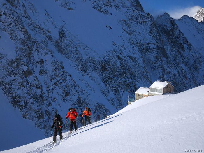 hollandiahutte, skiing, Bernese Oberland, Switzerland, skinning, photo