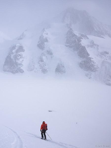 Finsteraarhorn, Bernese Oberland, Switzerland, ski