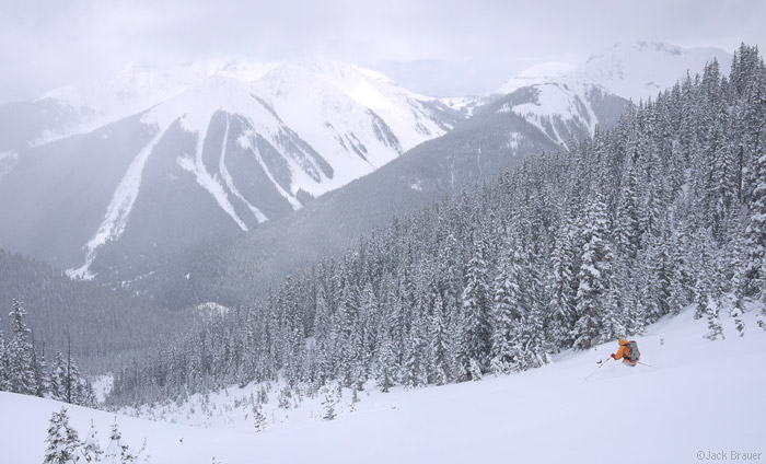 Skiing, Silverton, powder, May, San Juans, Colorado, photo