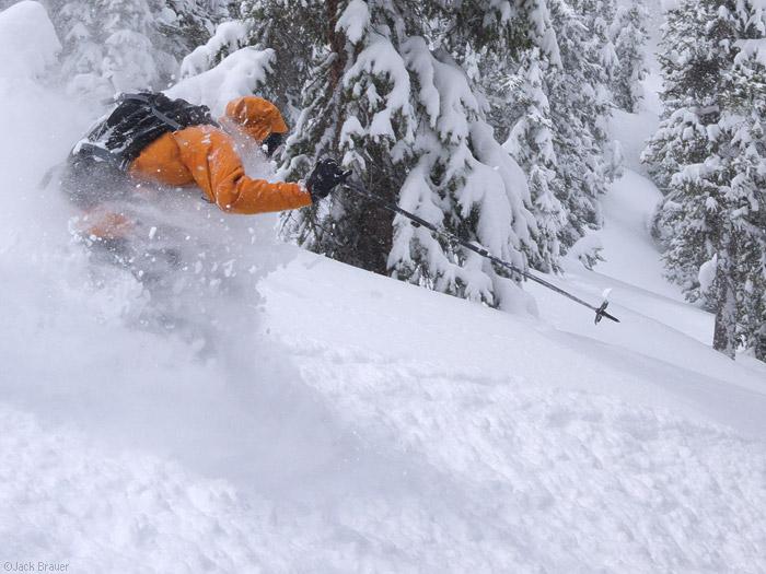 Skiing, face shots, San Juans, Colorado, May, photo